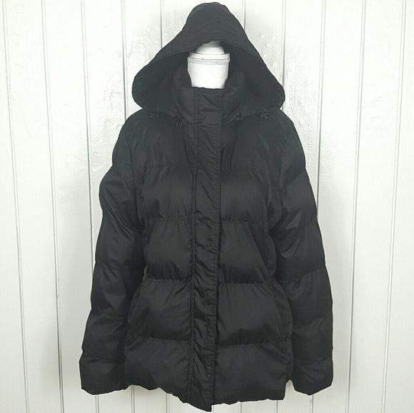 3d3c672600f09 Faded Glory Jackets & Coats | Black Hooded Puffer Jacket Coat Sz Xl ...